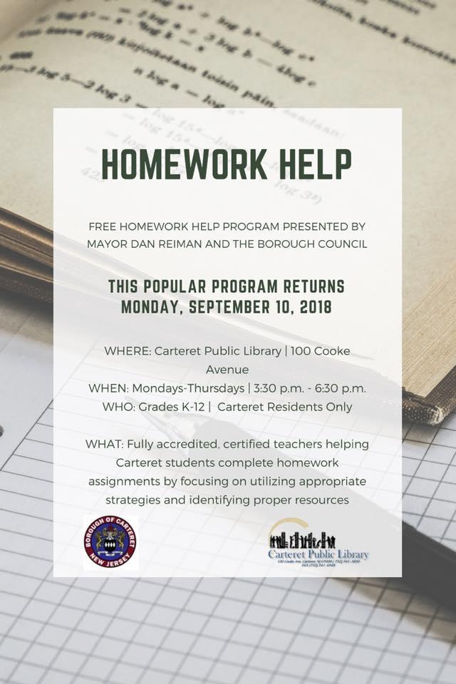 Nj homework help